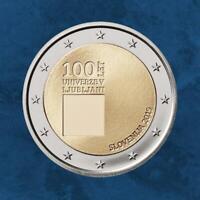 Slowenien - 100 Jahre Universität von Ljubljana - 2 Euro 2019 PP