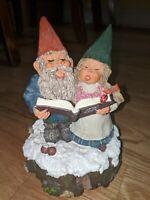 Vintage Anke & Arne Gnomes Winter Wonderland Music Box Klaus Wickl 1994