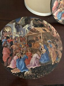 Vintage 1965 SPRINGBOK The Adoration of the Magi circular jigsaw puzzle Complete