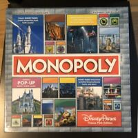MONOPOLY Disney Parks Theme Park 2020 Edition Pop-Up Castle Game NEW