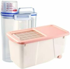 Airtight Food Storage Containers 2 Pieces - Plastic Kitchen Pantry Containers