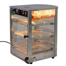 More details for warmer heated display cabinet pie chicken bread food warmer showcase commercial
