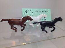 Recast Marx 60mm Running Horse Set Of Three
