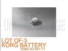 KORG N364,264,M1R,X3R,T3,X2,T1,X3,  BATTERY WITH ADAPTER LOT OF 3 PCS