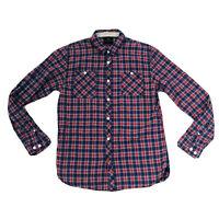 Scotch & Soda Men's Flannel Plaid Check Button Down Shirt XL