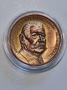 Münze Medaille Reichspräsident von Hindenburg - General - Feldmarschal