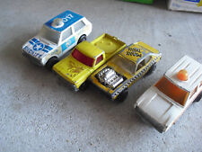 Lot of 4 Vintage 1970s Matchbox Rolamatics Trucks with Wear