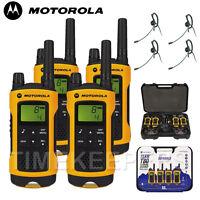 10Km Motorola TLKR T80 Extreme IPX4 Rugged All Weather Two Way Radios Quad PK
