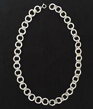 Vecchio maestro pezzo di gioielli in puro argento 835 gioielli catena Designer Collier del 1900
