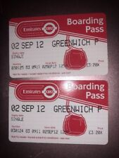 Lodon 2012 Olympics Greenwich Boarding Pass 2 September 2012 X2