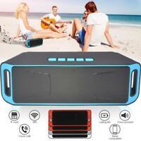 Bluetooth Rechargeable Wireless Speaker Pretty Outdoor Stereo Radio FM TF U G0V1