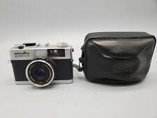 Minolta Hi Matic G 35mm Rangefinder Film Camera with Case