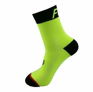 Fox Genuine Cycling Socks Large Lime Green - Cushioned Brand New size 37-44