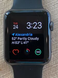 Apple Watch Series 1 42mm Space Gray Aluminum Black iWatch Sport band