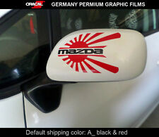 Pair of JDM LOGO MAZDA 3 6 RX8 RX7 MX5 Car mirror Decal vinyl Sticker