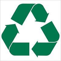 Recycle symbol decal sticker auto laptop helmet glass etc