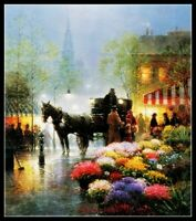 Flower Market II - Chart Counted Cross Stitch Pattern Needlework Xstitch craft