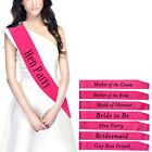 Pink Hens Night Bridal Party Sash Bride Bridesmaid Maid Of Honour Sashes SAL*