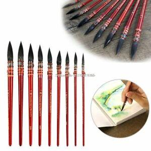 Squirrel Fur Hair Paint Brush Art Watercolor Brush Pen Ancient Rhyme Art Supply