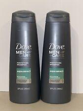 2* Dove Men + Care Fortifying Shampoo Aqua Impact 12 Ounces Fast Free Ship (h)