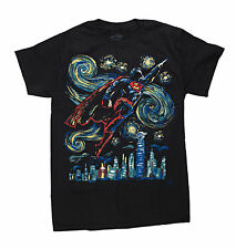 NEW DC COMICS MENS SUPERMAN ABSTRACT FLYING TEE Size L Black