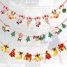 Multi Style Christmas Hanging Banner Xmas Tree Elk Santa Claus Room Decor-RO