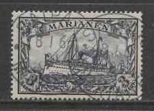 1901 German colonies MARIANA ISLANDS  3 Mark Yacht issue  used, -SAIPAN-, € 160
