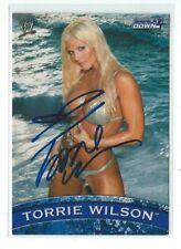 Torrie Wilson Signed 2005 Topps WWE Smack Down Diva Card #D1