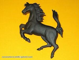 """FERRARI 208 308 328 365 456 550 CAVALLINO BLACK 75mm 3"""" EMBLEM CAVALLINO HORSE"""