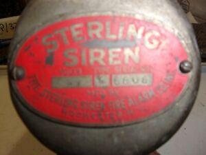Vintage Sterling Siren, Fire Truck Siren, 6Volt Siren.