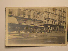 Albany NY * Flood Scene RPPC ca. 1913 * Boat in Street  Saniped Shoe Store