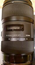 Sigma 18-35 mm f1, 8 DC HSM Art pour CANON _ mis _ COMME NEUF