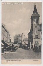 Early Postcard, Kent, Bromley, Corner Of Market Square, Shops, Horse @ Carts,