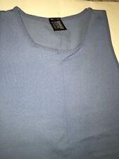 New Wolford Cotton Velvet  TOP Sleeveless Shirt color: Light Blue Size Medium
