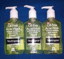 3 Pack  Neutrogena Salicylic Acid Facial Cleanser Acne Wash For Redness **read**