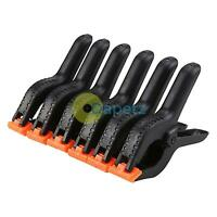 6 x Large 6'' Plastic Spring Clamps Market Stall Tarpaulin Cover Clips Grips