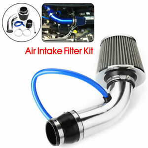 3'' Car Cold Air Intake System Turbo Induction Pipe Tube Filter Silver Alloy