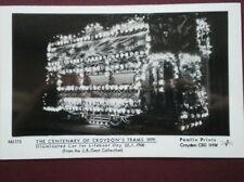 POSTCARD RP CROYDON TRAMS - ILLUMINATED CAR 22.7.1908 PAMLIN PRINT