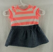 """Doll Clothes Cherokee Striped Infant Dress Newborn Outfit 20""""-24"""" Doll 1"""