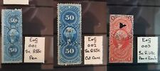 More details for usa entry of goods revenue 1862-71 choice of stamps cds or pen cancs