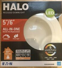 Halo LED recessed downlight bulb and trim - Up To 15' Ceilings