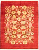 """Modern Hand-Knotted Carpet 8'0"""" x 10'1"""" Oriental Wool Area Rug"""