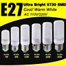 Milky White Cover 5730 Chip LED Corn Bulb Light Lamp E27 7W 12W 20W 25W 110/220V
