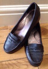 TOSCA BLU Moccasins Women's Leather Black Size 38