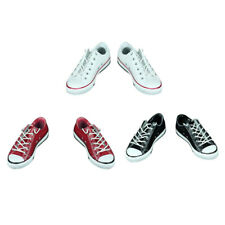 """3 Pairs 1/6 Scale Canvas Shoes Flats Sneakers for 12"""" Hot Toys Phicen Kumik"""