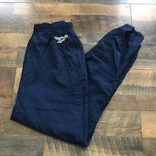 Reebok Blue White Logo Hip Hop Shaq Lined Windbreaker Track Pants Vintage XL