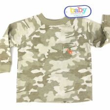 Green Camo Shirt Size 6-9 Months Camouflage Fits upTo 19 Lbs Baby Connection NWT