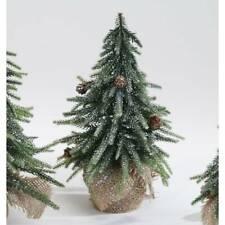 Dekoobjekt Tannenbaum mit Zapfen und Schnee H. 26cm Formano W21