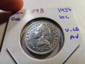 O98 Dominican Republic 1937 10 Centavos Very Choice AU