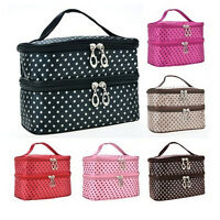 Woman Portable Travel Beauty Case Makeup Cosmetic Set Toiletry Holder Bag Fn